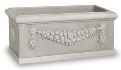 Designový truhlík Toscana šedá 60x25x30 cm