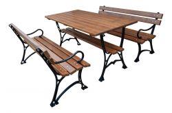 Zahradní posezení litinové lavice + stůl FPR 180