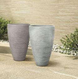 Designový květináč TROPEA 60 šedá Lienbacher - vše pro venkovní posezení na zahradě a na terase