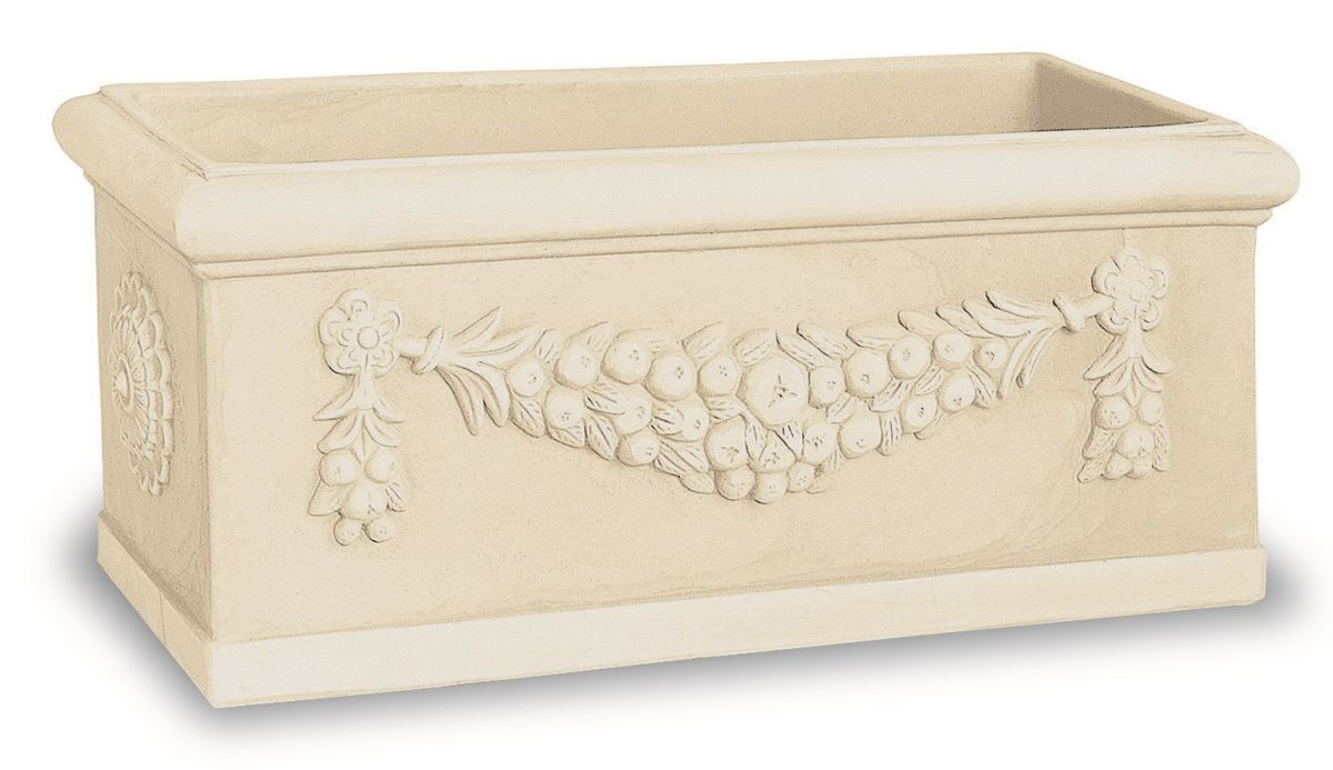 Designový truhlík Toscana slonová kost 60x25x30 cm Lienbacher - vše pro venkovní posezení na zahradě a na terase
