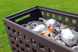 Leda Outfire Guss-Firebox - zahradní ohniště gril - vše pro venkovní posezení na zahradě a na terase
