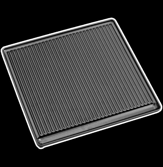Litinová grilovací deska vroubkovaná Plamen - vše pro venkovní posezení na zahradě a na terase