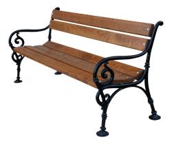 Litinová lavička venkovní Vídeň 150