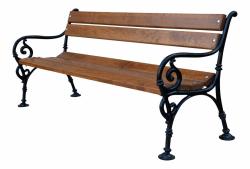 Litinová lavička venkovní Vídeň 180 RB Garden - vše pro venkovní posezení na zahradě a na terase