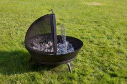 Litinové ohniště s grilem FUOCO BBQ Globe-Fire - vše pro venkovní posezení na zahradě a na terase