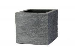 Moderní květináč Tegula šedý kámen 40x34x40 cm