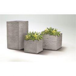 Moderní květináč Tegula šedý kámen 27x60x27 cm Lienbacher - vše pro venkovní posezení na zahradě a na terase