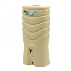Plastový sud na dešťovou vodu s kohoutkem béžový objem 350 litrů