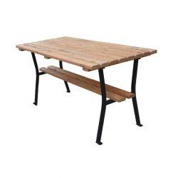 Stůl zahradní dřevo a ocel 150 cm