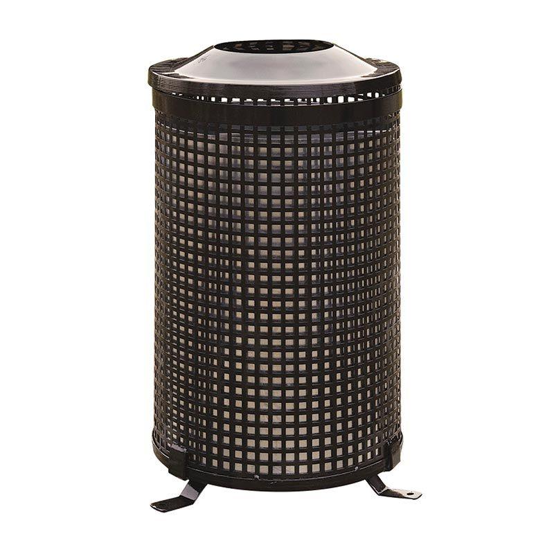 Venkovní kovový odpadkový koš kulatý RB Garden - vše pro venkovní posezení na zahradě a na terase