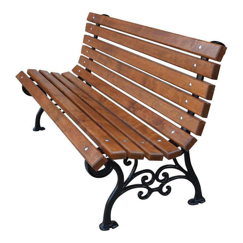 Venkovní litinová lavička Klasik 150 cm RB Garden - vše pro venkovní posezení na zahradě a na terase