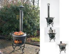 VULKAN - multifunkční litinový gril na zahradu Globe-Fire - vše pro venkovní posezení na zahradě a na terase