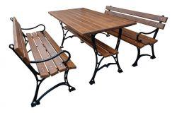 Zahradní posezení litinové lavice + stůl FPR 150 RB Garden - vše pro venkovní posezení na zahradě a na terase