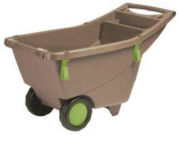 Zahradní vozík na kolečkách 140 litrů šedý