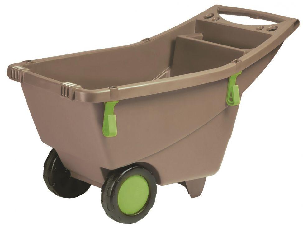 Zahradní vozík na kolečkách 140 litrů šedý Lienbacher - vše pro venkovní posezení na zahradě a na terase