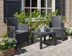 ROSARIO DUO set, antracit Allibert - vše pro venkovní posezení na zahradě a na terase