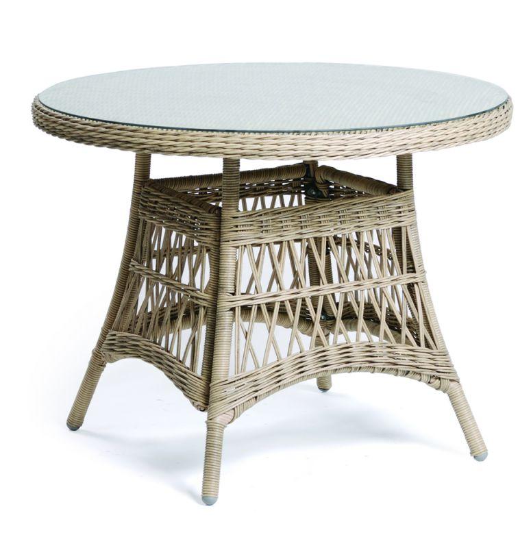DENVER stůl ratanový kulatý 100 cm Rojaplast - vše pro venkovní posezení na zahradě a na terase