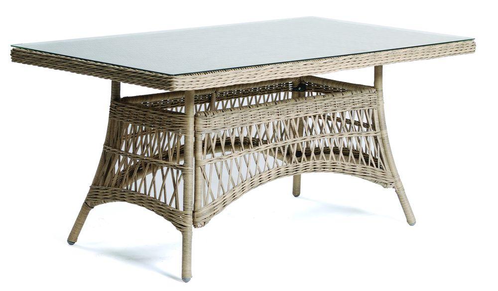 DENVER stůl ratanový 160 x 90 cm Rojaplast - vše pro venkovní posezení na zahradě a na terase