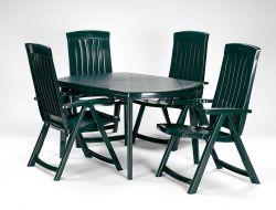 ELISE stůl - zelený Allibert - vše pro venkovní posezení na zahradě a na terase