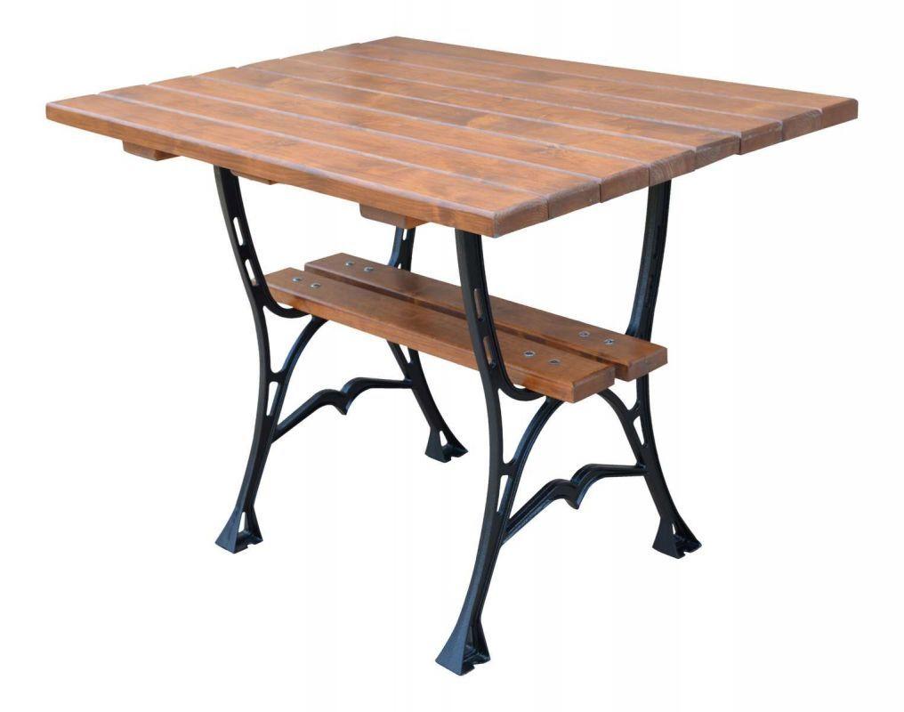 Litinový zahradní stůl 100 hranatý RB Garden - vše pro venkovní posezení na zahradě a na terase