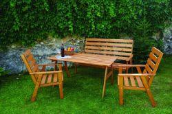 SYLVA zahradní souprava z masivu Rojaplast - vše pro venkovní posezení na zahradě a na terase