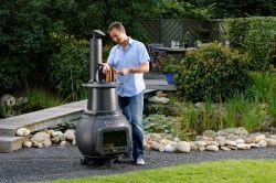 TROLL 700 - vekovní litinový krb s grilem LEDA - vše pro venkovní posezení na zahradě a na terase