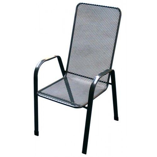Uniko Sága vysoká, židle kovová Unikov - vše pro venkovní posezení na zahradě a na terase