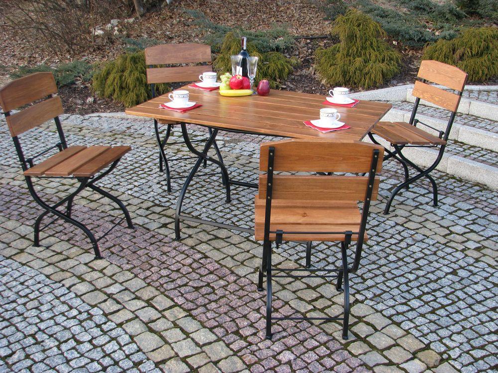 Zahradní nábytek sestava WEEKEND 4+1 skládací Rojaplast - vše pro venkovní posezení na zahradě a na terase