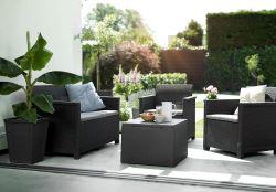 EMMA zahradní set 2 místná sedačka grafit Allibert - vše pro venkovní posezení na zahradě a na terase