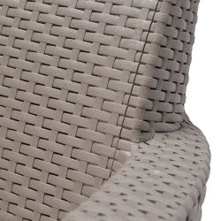 SALEMO 2 seater sofa - cappuccino Allibert - vše pro venkovní posezení na zahradě a na terase
