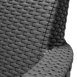 SALEMO 2 seater sofa - grafit Allibert - vše pro venkovní posezení na zahradě a na terase