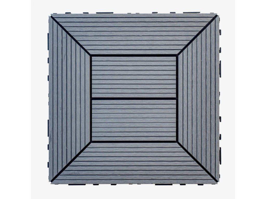 WPC dlaždice 300x300 mm, barva šedá Nextwood - vše pro venkovní posezení na zahradě a na terase