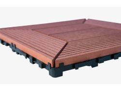 WPC dlaždice 300x300 mm, barva třešeň Nextwood - vše pro venkovní posezení na zahradě a na terase