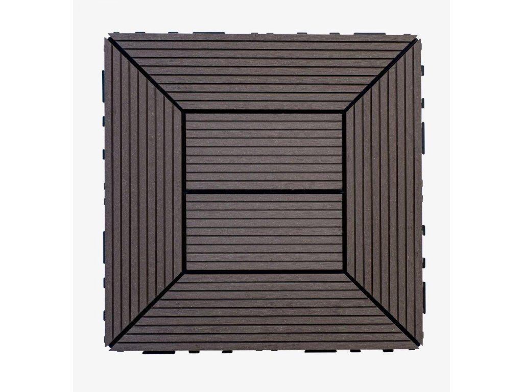 WPC dlaždice 300x300 mm, barva wenge Nextwood - vše pro venkovní posezení na zahradě a na terase