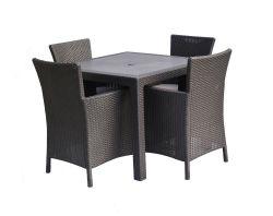 MELODY QUARTED stůl - hnědý Keter - vše pro venkovní posezení na zahradě a na terase