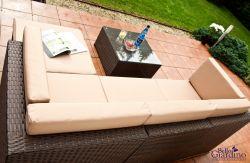 Ratanová sedací souprava TINTO hnědá Bello Giardino - vše pro venkovní posezení na zahradě a na terase