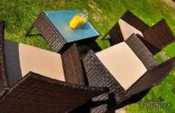 Sedací souprava ratanový set COMODO hnědá Bello Giardino - vše pro venkovní posezení na zahradě a na terase