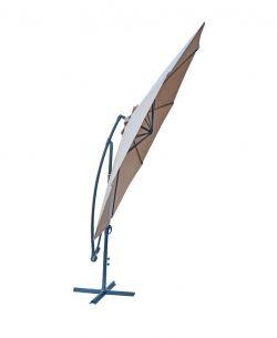 Slunečník kovový 8080 -ø350 - béžový Rojaplast - vše pro venkovní posezení na zahradě a na terase