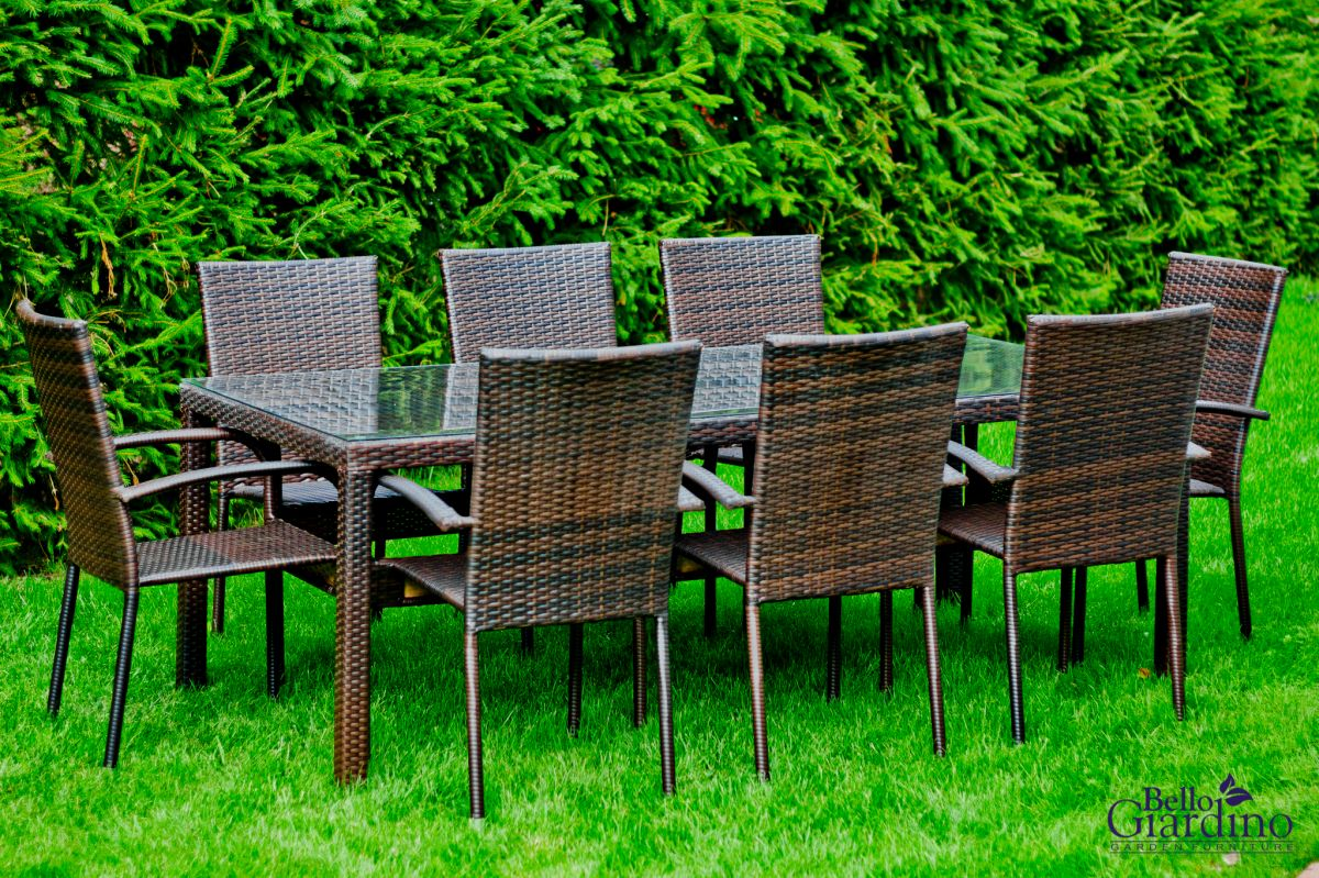 Zahradní jídelní set ratanový 8+1 SOTTILE hnědá Bello Giardino - vše pro venkovní posezení na zahradě a na terase