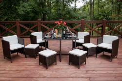 Zahradní jídelní set ratanový CRISTALLO Bello Giardino - vše pro venkovní posezení na zahradě a na terase
