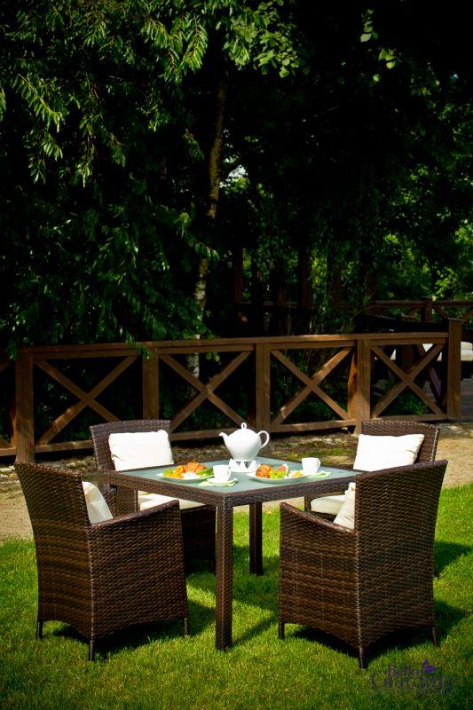 Zahradní jídelní set ratanový PAZZO hnědá Bello Giardino - vše pro venkovní posezení na zahradě a na terase