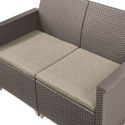 EMMA 2 seaters sofa set - cappuccino Keter - vše pro venkovní posezení na zahradě a na terase