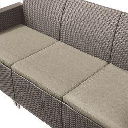 EMMA 3 seaters sofa set - cappuccino Keter - vše pro venkovní posezení na zahradě a na terase