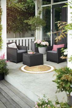 EMMA balcony set - cappuccino Keter - vše pro venkovní posezení na zahradě a na terase