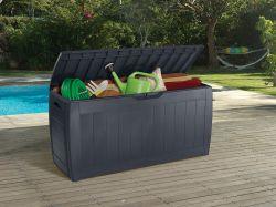 HOLLYWOOD úložný box - 270L grafit Keter - vše pro venkovní posezení na zahradě a na terase