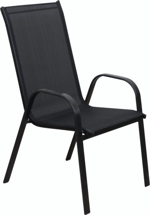 Křeslo XT1012C - černá textilie Rojaplast - vše pro venkovní posezení na zahradě a na terase