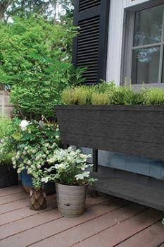 květináč URBAN BLOOMER XL grafit Keter - vše pro venkovní posezení na zahradě a na terase