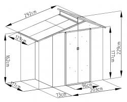 OSCAR E-A domek Rojaplast - vše pro venkovní posezení na zahradě a na terase