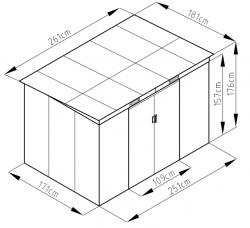 S2001C domek Rojaplast - vše pro venkovní posezení na zahradě a na terase
