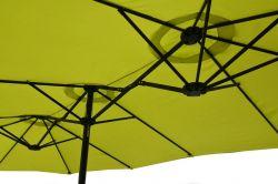 Slunečník DOUBLE ZWU-307 lemone Rojaplast - vše pro venkovní posezení na zahradě a na terase